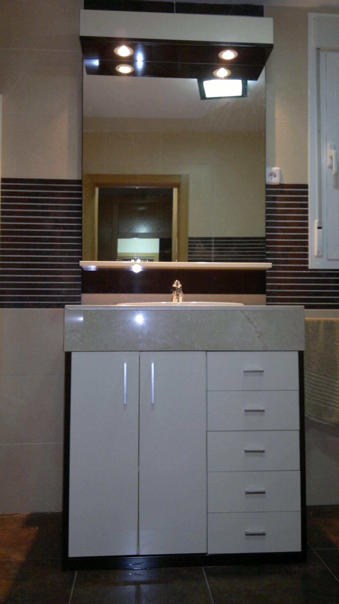 Muebles de baño Puertas laminado alto brillo