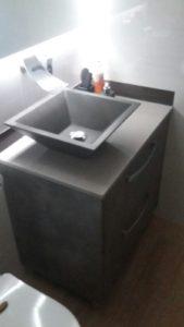 Mueble de baño tablero cemento