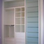 Frente de armario con puertas de cristal